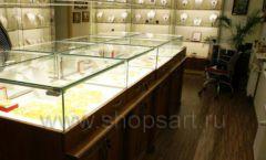 Торговое оборудование ювелирного магазина Амбер коллекция КОРИЧНЕВАЯ КЛАССИКА Фото 06