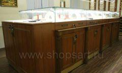 Торговое оборудование ювелирного магазина Амбер коллекция КОРИЧНЕВАЯ КЛАССИКА Фото 13