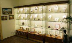 Торговое оборудование ювелирного магазина Амбер коллекция КОРИЧНЕВАЯ КЛАССИКА Фото 16