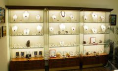Торговое оборудование ювелирного магазина Амбер коллекция КОРИЧНЕВАЯ КЛАССИКА Фото 17