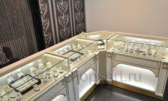 Торговое оборудование ювелирного магазина Нефрит ЭЛИТ ГОЛД Фото 01