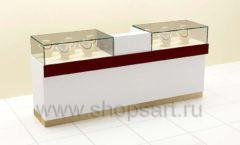 Прилавки ювелирные с кассовым столом торговое оборудование ЭТАЛОН