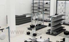 Дизайн интерьера магазина посуды BergHOFF коллекция МЕБЕЛЬ ДЛЯ ПОСУДЫ Дизайн 09