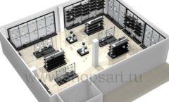 Дизайн интерьера магазина посуды BergHOFF коллекция МЕБЕЛЬ ДЛЯ ПОСУДЫ Дизайн 13