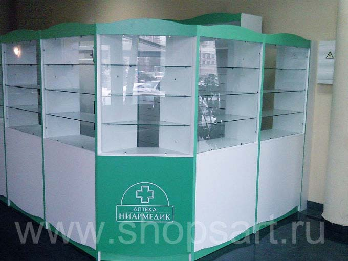 Торговое оборудование аптеки Ниармедик Фото 02