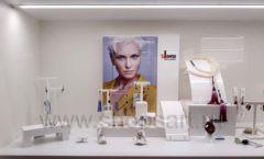 Торговое оборудование для косметики салона красоты DESSANGE Лесная улица коллекция ПУДРА Фото 05
