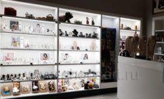Торговое оборудование для косметики салона красоты DESSANGE Лесная улица коллекция ПУДРА Фото 07