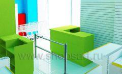 Дизайн интерьера детского магазина торговое оборудование ЦВЕТНЫЕ МЕТАЛЛИЧЕСКИЕ СТЕЛЛАЖИ Дизайн 12