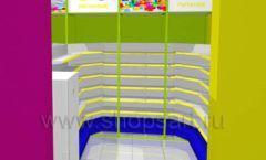 Дизайн интерьера детского магазина в Green park коллекция ЦВЕТНЫЕ МЕТАЛЛИЧЕСКИЕ СТЕЛЛАЖИ Дизайн 04