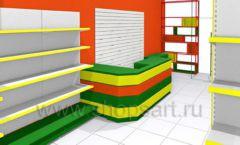 Дизайн интерьера 2 детского магазина в Green park коллекция ЦВЕТНЫЕ МЕТАЛЛИЧЕСКИЕ СТЕЛЛАЖИ Дизайн 01