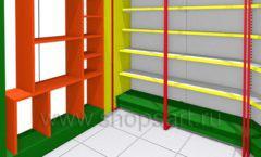 Дизайн интерьера 2 детского магазина в Green park коллекция ЦВЕТНЫЕ МЕТАЛЛИЧЕСКИЕ СТЕЛЛАЖИ Дизайн 05