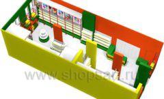 Дизайн интерьера 2 детского магазина в Green park коллекция ЦВЕТНЫЕ МЕТАЛЛИЧЕСКИЕ СТЕЛЛАЖИ Дизайн 07