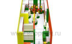 Дизайн интерьера 2 детского магазина в Green park коллекция ЦВЕТНЫЕ МЕТАЛЛИЧЕСКИЕ СТЕЛЛАЖИ Дизайн 08