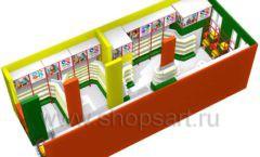 Дизайн интерьера 2 детского магазина в Green park коллекция ЦВЕТНЫЕ МЕТАЛЛИЧЕСКИЕ СТЕЛЛАЖИ Дизайн 09