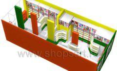 Дизайн интерьера 2 детского магазина в Green park коллекция ЦВЕТНЫЕ МЕТАЛЛИЧЕСКИЕ СТЕЛЛАЖИ Дизайн 10