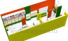 Дизайн интерьера 2 детского магазина в Green park коллекция ЦВЕТНЫЕ МЕТАЛЛИЧЕСКИЕ СТЕЛЛАЖИ Дизайн 11