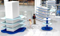 Дизайн интерьера детского сувенирного магазина Москвариум коллекция ЦВЕТНЫЕ МЕТАЛЛИЧЕСКИЕ СТЕЛЛАЖИ Дизайн 04