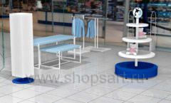 Дизайн интерьера детского сувенирного магазина Москвариум коллекция ЦВЕТНЫЕ МЕТАЛЛИЧЕСКИЕ СТЕЛЛАЖИ Дизайн 12