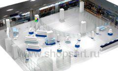 Дизайн интерьера детского сувенирного магазина Москвариум коллекция ЦВЕТНЫЕ МЕТАЛЛИЧЕСКИЕ СТЕЛЛАЖИ Дизайн 17