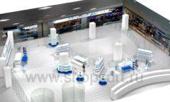Дизайн интерьера детского сувенирного магазина Москвариум коллекция ЦВЕТНЫЕ МЕТАЛЛИЧЕСКИЕ СТЕЛЛАЖИ Дизайн 18