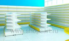 Дизайн интерьера магазина торговое оборудование ЦВЕТНЫЕ МЕТАЛЛИЧЕСКИЕ СТЕЛЛАЖИ Дизайн 11