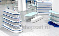 Дизайн интерьера сувенирного магазина Москвариум коллекция ЦВЕТНЫЕ МЕТАЛЛИЧЕСКИЕ СТЕЛЛАЖИ Дизайн 14