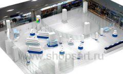 Дизайн интерьера сувенирного магазина Москвариум коллекция ЦВЕТНЫЕ МЕТАЛЛИЧЕСКИЕ СТЕЛЛАЖИ Дизайн 17
