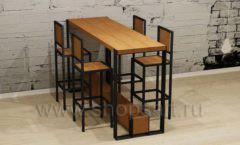 Высокий длинный стол со стульями