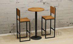 Столик круглый со стульями