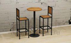 Круглый барный столик и стулья