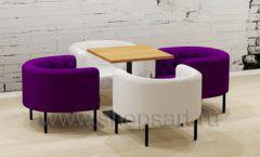 Комплект: квадратный столик с креслами