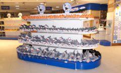 Торговое оборудование 2 детского сувенирного магазина Москвариум ВДНХ ЦВЕТНЫЕ МЕТАЛЛИЧЕСКИЕ СТЕЛЛАЖИ Фото 17
