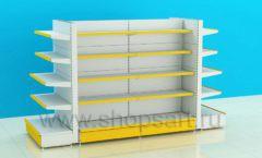 Стеллаж для детского магазина металлический четырехсторонний торговое оборудование ЦВЕТНЫЕ МЕТАЛЛИЧЕСКИЕ СТЕЛЛАЖИ