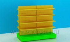 Блок металлических стеллажей для детского магазина торговое оборудование ЦВЕТНЫЕ МЕТАЛЛИЧЕСКИЕ СТЕЛЛАЖИ