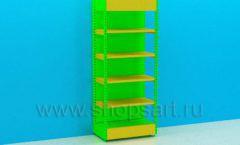 Стеллаж усиленный для детского магазина торговое оборудование ЦВЕТНЫЕ МЕТАЛЛИЧЕСКИЕ СТЕЛЛАЖИ