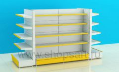 Стеллаж для магазина металлический четырехсторонний торговое оборудование ЦВЕТНЫЕ МЕТАЛЛИЧЕСКИЕ СТЕЛЛАЖИ