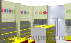 Дизайн интерьера магазина Город Мастеров коллекция ТОРГОВЫЕ СТЕЛЛАЖИ Дизайн 3