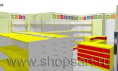 Дизайн интерьера магазина Город Мастеров коллекция ТОРГОВЫЕ СТЕЛЛАЖИ Дизайн 4
