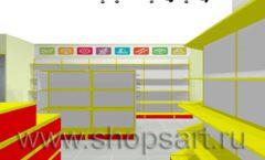 Дизайн интерьера магазина Город Мастеров коллекция ТОРГОВЫЕ СТЕЛЛАЖИ Дизайн 5