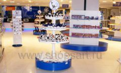 Торговое оборудование магазина сувениров Москвариум ВДНХ БРЕНДОВЫЕ СТЕЛЛАЖИ Фото 32
