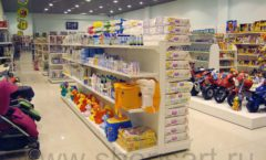 Торговое оборудование в магазине Планета детства ТОРГОВЫЕ СТЕЛЛАЖИ Фото 1