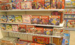 Торговое оборудование отдела игрушек магазина Винни ТЦ Юнимолл ЦВЕТНЫЕ МЕТАЛЛИЧЕСКИЕ СТЕЛЛАЖИ Фото 23