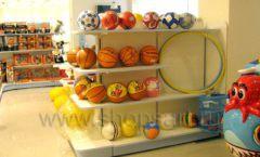Торговое оборудование отдела игрушек магазина Винни ТЦ Юнимолл ЦВЕТНЫЕ МЕТАЛЛИЧЕСКИЕ СТЕЛЛАЖИ Фото 30