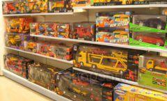 Торговое оборудование отдела игрушек детского магазина Винни ТЦ Юнимолл ЦВЕТНЫЕ МЕТАЛЛИЧЕСКИЕ СТЕЛЛАЖИ Фото 08