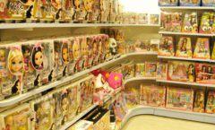 Торговое оборудование отдела игрушек детского магазина Винни ТЦ Юнимолл ЦВЕТНЫЕ МЕТАЛЛИЧЕСКИЕ СТЕЛЛАЖИ Фото 13