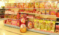 Торговое оборудование отдела игрушек детского магазина Винни ТЦ Юнимолл ЦВЕТНЫЕ МЕТАЛЛИЧЕСКИЕ СТЕЛЛАЖИ Фото 14