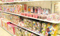 Торговое оборудование отдела игрушек детского магазина Винни ТЦ Юнимолл ЦВЕТНЫЕ МЕТАЛЛИЧЕСКИЕ СТЕЛЛАЖИ Фото 16