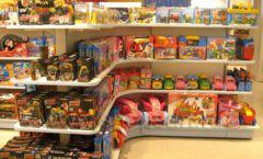 Торговое оборудование отдела игрушек детского магазина Винни ТЦ Юнимолл ЦВЕТНЫЕ МЕТАЛЛИЧЕСКИЕ СТЕЛЛАЖИ Фото 20