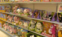 Торговое оборудование отдела игрушек детского магазина Винни ТЦ Юнимолл ЦВЕТНЫЕ МЕТАЛЛИЧЕСКИЕ СТЕЛЛАЖИ Фото 21