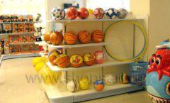 Торговое оборудование отдела игрушек детского магазина Винни ТЦ Юнимолл ЦВЕТНЫЕ МЕТАЛЛИЧЕСКИЕ СТЕЛЛАЖИ Фото 30